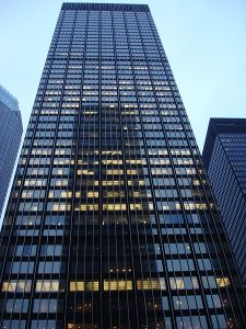 JP Morgan Chase Tower, New York City (by official-ly cool, Commons:Wikipedia Takes Manhattan project April 4, 2008)